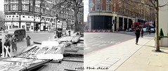 Knightsbridge`1943-2019 (roll the dice) Tags: london old westminster kensingtonchelsea travel transport local history sad surreal changes collection retro bygone canon tourism tourists streetfurniture architecture oldandnew pastandpresent hereandnow urban england uk classic art bus regent windows war people view fashion sw1 vanished gale demolished weather shops shopping nostalgia comparison lights ornate aecregentiiirt advertising trees weapons ww2 brompton scotch uniform blitz