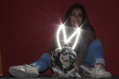 Vale y perrito callejero (jake_hernández) Tags: dog perro diablo callejero best friend