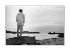 Thou art too. Thank you for coming. Apart from me you do not meet anyone? (jean-christophe sartoris) Tags: bretagne mer landscape cloud summer sea friend photo 35mm blackandwhite