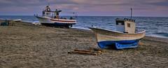 Detalle pano de barcas. (ZAPIGATA) Tags: cabodegata almeria andalucia beach barco paisaje playa panoramica sunset zapigata landscape
