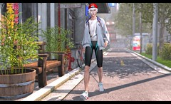Can't Be Late For Practice (Taylor Wassep) Tags: secondlife sl littlebones ghoul nativeurban native tokyostreetsim free swimmer swim tokyo hat mbirdie