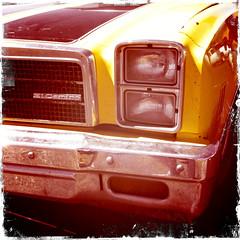 In the Morning (travelkaefer) Tags: chevrolet elcamino myroadtripamerica needles iphone iphonediary us uscar california vereinigtestaaten usa ca car classic oldtimer 3gs 2010 20s yellow spring