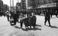 Bay Ride St. Patrick's Day Parade (neilsonabeel) Tags: nikonn90s nkon nikkor zoom film analogue kodak parade brooklyn bayridge blackandwhite