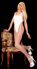 0105 (Youko_Kishida) Tags: fetish crossdresser tgirl leotard crossdressing pantyhose stocking tights lycra