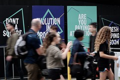 don't be a square (jhnmccrmck) Tags: jhnmccrmck 2019 april saturday reshapingsoon evolutioninprogress areyoupayingattention don'tbeasquare melbourne victoria federationsquare 3000 fujifilm xf1855mm xt1 classicchrome people