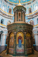 Interior of Resurrection Cathedral of the New Jerusalem monastery, Russia, Istra (psvrusso) Tags: dome cross architecture monastery orthodox tower cathedral religion russia church jerusalem gold famous istra christianity resurrection temple decoration building history old culture ancient bell russian voskresensky landmarks exterior outdoors cupola golden landmark roof moscowregion newjerusalem belltower worship monks religious outdoor faith historical pilgrimage buildings ornaments traditional sightseeing