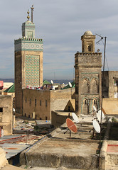 Bou Inania Madrasa, Fez (Wild Chroma) Tags: medersa bouinania fez madrasa minaret mosque morocco