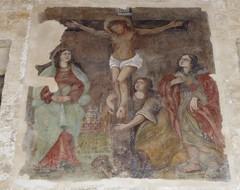 Polignano a Mare (Puglia-Italia). Arco Marchesale. Fresco de la Crucifixión, finales siglo XVI (santi abella) Tags: polignanoamare apulia puglia italia frescos