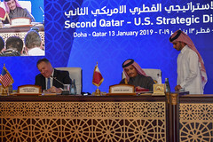 U.S.-Qatar Strategic Dialogue in Doha, Qatar (U.S. Department of State) Tags: qatar mike pompeo mikepompeo