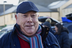 Hearty smile (Frank Fullard) Tags: frankfullard fullard candid street portrait smile cork newport cap scarf mayo sundayswell propforward red blue color colour rugby
