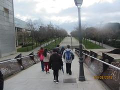 Enrique Tierno Galvan Park,1986,  Madrid. (d.kevan) Tags: parksandgardens plants trees people paths buildings streetlamps madrid 1986 visitorgroups handrails ramps steps clouds sky views