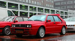 Lancia Delta HF Integrale Evoluzione II 1993 (XBXG) Tags: uh6173 lancia delta hf integrale evoluzione ii 1993 lanciadelta 16v red rood rouge hot hatch hatchback interclassics 2019 forum mecc maastricht limburg nederland holland netherlands paysbas youngtimer old classic italian car auto automobile voiture ancienne italienne italie italia italy vehicle outdoor harri asunta