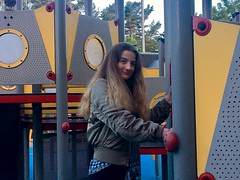 Girl at Playground Looking at Camera (Jonatan Svensson Glad (Josve05a)) Tags: cute child happy smiling people smile caucasian happiness looking childhood kid women person human pretty cheerful fun joy outdoors youth play playful playing outdoor children activity kids playground younggirl 14years