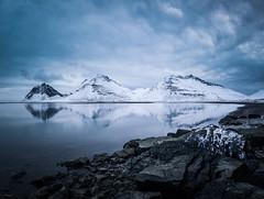 Stillness in Lón (unneva) Tags: mountain iceland reflection water rocks nature landscape winter snow stillness