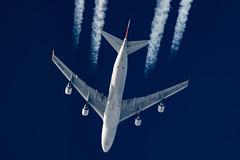 Magma Aviation Boeing 747-412(BDSF) TF-AMI (Thames Air) Tags: magma aviation boeing 747412bdsf tfami contrails contrailspotting