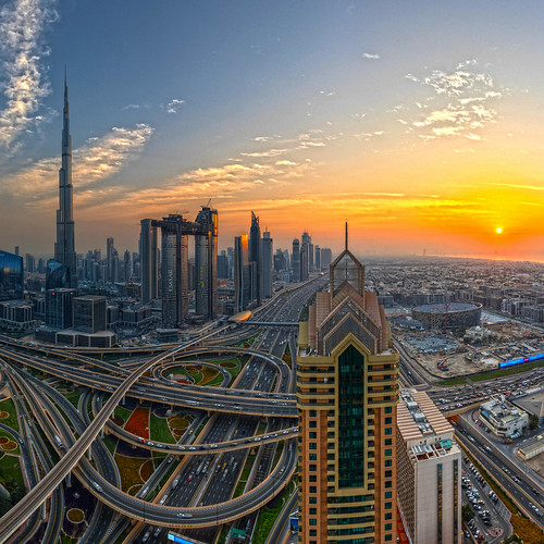 Downtown Dubai sunset
