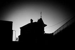 haunted house (/ urban.fishing /) Tags: marienbrücke dresden silhouette high contrast urban city backlight castle hounted house black white