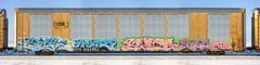 Kick/Warp/Keptoe/Siez (quiet-silence) Tags: graffiti graff freight fr8 train railroad railcar art kick warp keptoe siez mta msk rtm autorack csx cttx692492