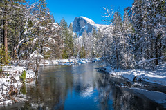 Yosemite Half Dome Merced River Reflections Fine Art Winter Photography Nikon D850 AF-S NIKKOR 28-300mm f/3.5-5.6G ED VR Bridalveil Falls Winter Snow Fine Art! Nikon D850 Yosemite Half Dome Sentinel Bridge Winter Snow California Landscape Photography! (45SURF Hero's Odyssey Mythology Landscapes & Godde) Tags: yosemite fine art winter photography nikon d850 afs nikkor 28300mm f3556g ed vr bridalveil falls snow national park california landscape high res 4k 8k elliot mcgucken