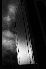 the rising (ChrisRSouthland (mostly off, traveling & working)) Tags: highrise blackandwhite bw monochrome schwarzweiss wellington nikond850 nikkor70200mmf40 newzealand contrast
