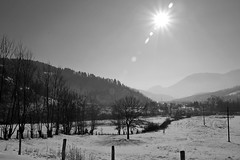 Sunny morning (superhic) Tags: winter snow morning sunny bosnia bosna zima sneg blackwhite