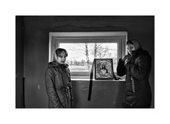 Girls in church (Paphylo) Tags: leicaq landscape window church people reallife outdoor rural indoor countryside leica ukraine girls blackandwhite volyn portrait village countrylife document
