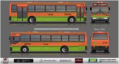22 429 Tusa - Mercedes-Benz O-371 U (busManíaCo) Tags: busmaníaco desenho drawn drawing ônibus bus