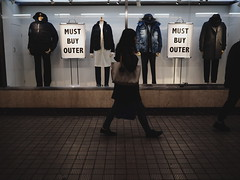 MUST BUY OUTER! (takana1964) Tags: streetphotography snap street streetsnap snapshot streetshot citysnap citystreet city cityphotography kyotocity japan olympus