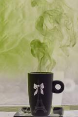 Un délire fumant ... ! (Elyane11) Tags: hautesavoie france composition tasse fuméedélire reflet