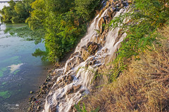 Brüllende Stromschnelle (ucrainis) Tags: waterfall water dnieper river island dnipro city ukraine nature summer sunny evening park trees