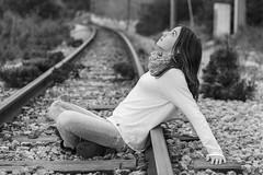Rememorando (@merchelas) Tags: bn bnw portrait retrato black vias tren viasdeltren happy monocrome blancoynegro blackandwhite