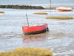 Small red boat (ralph&dot) Tags: morecambe bay