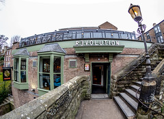 The Revolution. (CWhatPhotos) Tags: cwhatphotos camera photographs photograph pics pictures pic picture image images foto fotos photography artistic that have which contain flickr olympus omd em10 mk ll ii mzuiko 8mm prime fisheye fish eye lens durham north east england uk river wear city centre water pub public house drink revolution