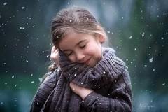 first Snow (agirygula) Tags: snow winter snowflakes portraiot childportrait childhood childhoodmemories childphotography childrenseewonder childseemagic wonders alldaybeautiful everyday magical blue turkis grey