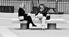Ooh, I Cant Look ! ! !  [Explored # 452] (jaykay72.) Tags: london uk street candid streetphotography paternostersquare stphotographia blackandwhite bw