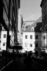vienna alleys (Petri Juhana) Tags: wien vienna austria street bw nonochrome yashica analog film travel leisure world europe tourism view