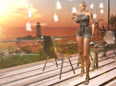 SUNSET EACH DAY (Rachel Swallows) Tags: fashion secondlife heels clothes mesh freya hourglass maitreya modan