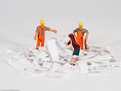 HMM White on white - Find the order / Find den Auftrag (J.Weyerhäuser) Tags: whiteonwhite hmm macromondays tinypeople order auftrag suchen find paper papier