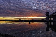 Rio Vista Sunset (punahou77) Tags: littlepotatoslough riovista delta stevejordan sky sunset punahou77 reflection roadtrip river nature nikond500 nikon night highway12 landscape landmark bridge
