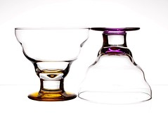 A Hint of Colour (Karen_Chappell) Tags: white pink yellow glass glasses two 2 stilllife product goblet dish pastel highkey bright colours color colour shapes
