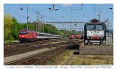 Re 460 + IR détourné - Basel RB (CC72080) Tags: muttenz locomotive lokomotive re460 cff sbb ffs personenzug zug détournement train interrégio basel br189 br185 db schenker mrce güterzug