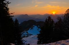 Sunset in the mountains (peter-goettlich) Tags: sunset snow mountains kufstein alps kaiser zahmerkaiser wilderkaiser vorderkaiserfelden vorderkaiserfeldenhütte tree trees schnee baum hütte alm inntal valley hut ritzalm nikon d7000 nikkor österreich austria pendling
