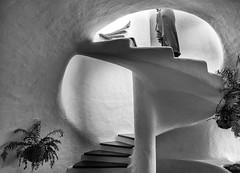 Organic Forms (nokkie1) Tags: lanzarote spain césarmanrique house round light art lady dress plants