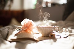 teacup on book beside pink flower decor - Credit to https://myfriendscoffee.com/ (John Beans) Tags: coffee diary write tea cafe coffeebeans shopbeans espresso coffeecup cup drink