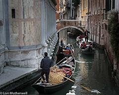 1811-Venice-2693 (-LoriM-) Tags: canal gondola gondolier italy venice