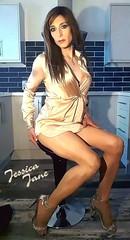 Silky Legs (jessicajane9) Tags: tg crossdresser trans m2f tv crossdress tgurl feminised tranny xdress feminization transgender cd travesti satin tgirl crossdressing transvestite