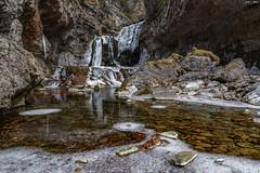 Cascada de la Cueva (sostingut) Tags: frío hielo invierno río agua valle ordesa montaña bosque nikon d750 haida roca cascada paisaje