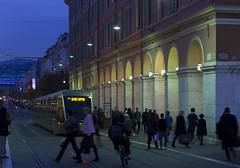 Avenue Jean Médecin, Nice, Côte d'Azur, France (Ministry) Tags: avenue jean médecin nice alpesmaritimes côte dazur france placemasséna tram street arcade etoile mont vial french riviera evening