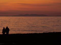 The horizon (_Veronika95_) Tags: mare sea orange arancione tramonto sunset natura salento puglia italy love calabria montagne orizzonte horizon sky cielo mancaversa marina pollino