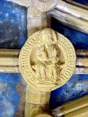 St Bartholomew (Aidan McRae Thomson) Tags: tynemouth priory chapel vault vaulting roofboss bosses medieval carving tynewear